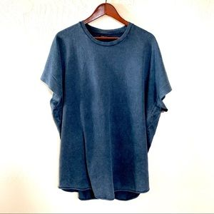 Zara Man Shortsleeved Shirt Navy Blue Large